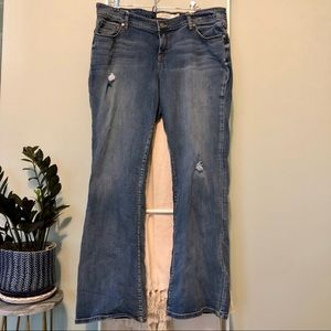 Torrid Distressed Relaxed Boot Cut Denim Jeans